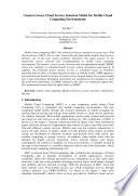 Context Aware Cloud Service Selection Model for Mobile Cloud Computing Environments