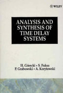 Analysis and Synthesis of Time Delay Systems Book