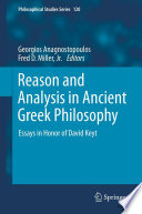 Reason and Analysis in Ancient Greek Philosophy