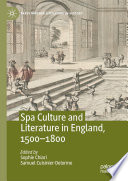 Spa Culture and Literature in England  1500   1800