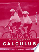 Calculus, Instructor's Solutions Manual: MV