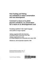 Pdf Comment la Chasse Et la Pêche Peuvent Contribuer À la Conservation de la Nature Et Au Développement Rural Telecharger