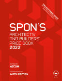 Spon s Architects  and Builders  Price Book 2022