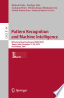 Pattern Recognition and Machine Intelligence Book