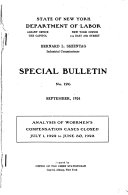 Analysis of Workmen's Compensation Cases Closed July 1, 1922 to June 30, 1923