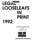 Legal Looseleafs in Print