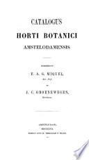 Catalogus Horti Botanici Amstelodamensis