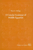 Cover of A Concise Grammar of Middle Egyptian