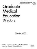 Graduate Medical Education Directory 2002 2003