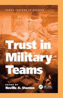Trust in Military Teams Pdf/ePub eBook