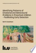 Identifying Patterns of Emotional and Behavioural Problems in Preschool children