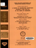 A Survey of Engineering Geophysics Capability and Practice in the Corps of Engineers