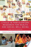 Ethics in Participatory Research for Health and Social Well Being