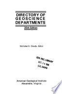 Directory of Geoscience Departments
