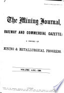 The Mining Journal, Railway and Commercial Gazette
