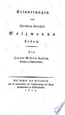 Erinnerungen aus Christian Gotthilf Salzmanns Leben