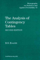 The Analysis of Contingency Tables, Second Edition