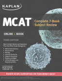 MCAT Complete 7 Book Subject Review