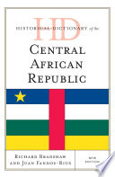 Historical Dictionary Of The Central African Republic