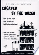 Cheaper by the Dozen   Musical