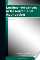 Lectins—Advances in Research and Application: 2012 Edition