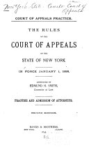 Rules of Practice of the Court of Appeals of the State of New York