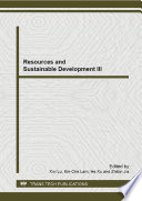 Resources And Sustainable Development Iii Book PDF