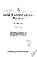 Board of Contract Appeals Decisions
