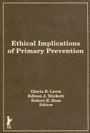 Ethical Implications of Primary Prevention