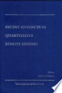 Recent Advances In Quantitative Remote Sensing Book PDF