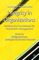 Pdf Integrity in Organizations