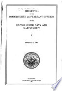 Register of the Commissioned and Warrant Officers of the United States Navy and Marine Corps