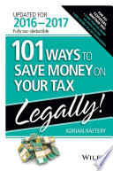 101 Ways To Save Money On Your Tax   Legally 2016 2017