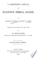 A Compendious Manual of Qualitative Chemical Analysis