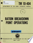 Ration Breakdown Point Operations