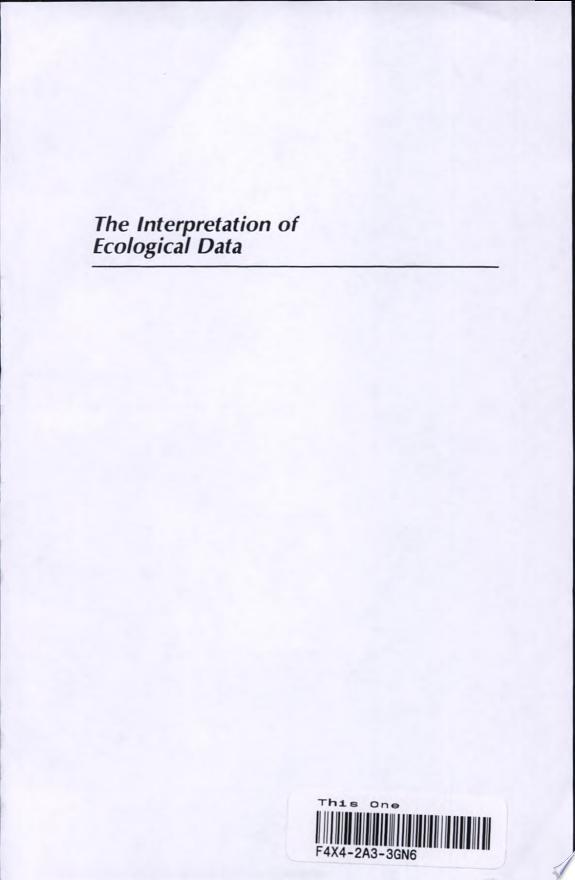 The Interpretation of Ecological Da
