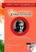 The International Journal Of Indian Psychology Volume 3 Issue 4 No 64