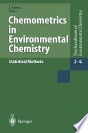 Chemometrics in Environmental Chemistry - Statistical Methods