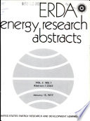 """ERDA Energy Research Abstracts"" by United States. Energy Research and Development Administration"