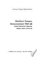 Dearborn Campus Announcement