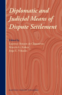 Diplomatic and Judicial Means of Dispute Settlement