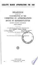 Legislative Branch Appropriations For
