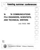 Written Communication for Engineers  Scientists  and Technical Writers