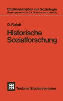 Historische Sozialforschung
