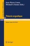 Theorie Ergodique