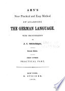 Ahn's New, Practical and Easy Method of Learning the German Language