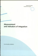 Measurement and Indicators of Integration