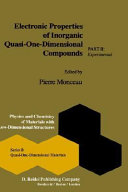 Electronic Properties Of Inorganic Quasi One Dimensional Compounds Book PDF