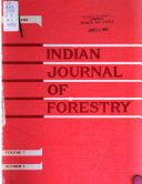 Indian Journal Of Forestry