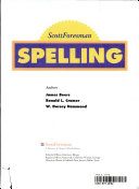 ScottForesman Spelling